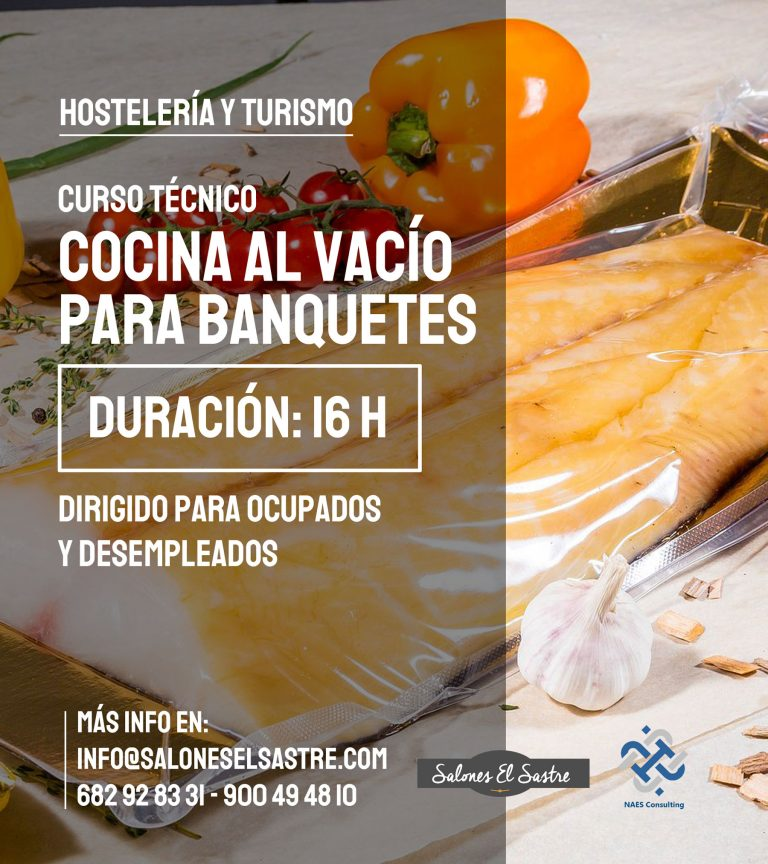 Formación Hostelería Tecnica Cocina al vacio